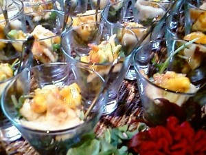 Canape shot glasss 2