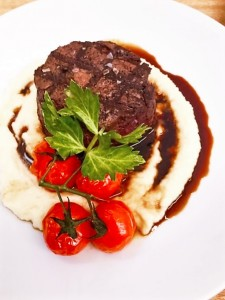 Main - steak with mash