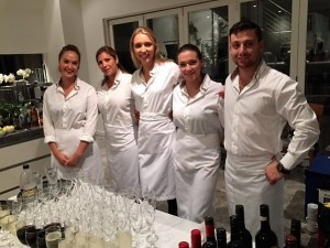 Staff at party white 4